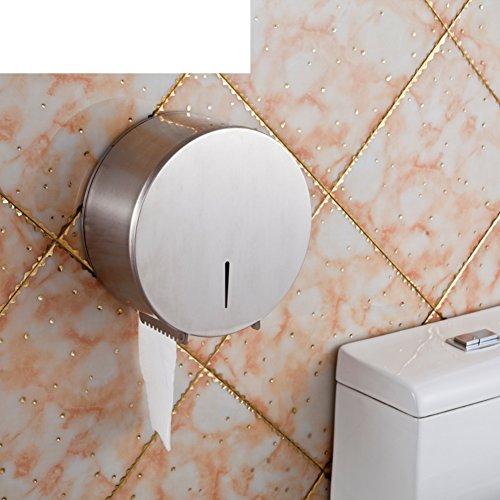 De roestvrijstalen toiletrolhouder/Toiletpapier plank/Grote rollen papier doos/Tissues houder /Badkamer weefsel dozen voor de markt-E