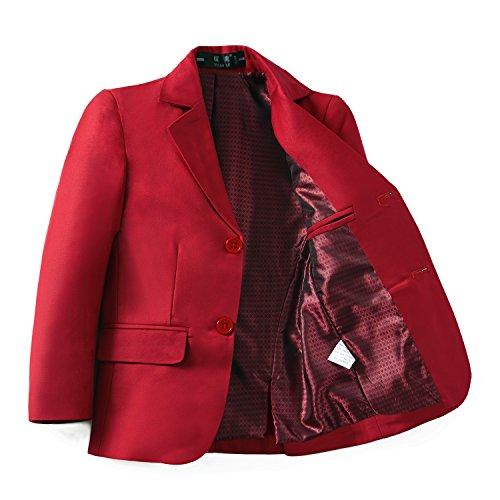 YuanLu Boys Formal Dresswear Suits Blazer Jacket Red Size 3T