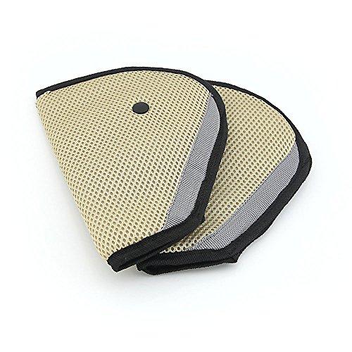 Owfeel 2 pcs pour enfants de voiture Ceinture de sécurité Positionneur Protector Housse de sécurité Ajusteur de sangle de harnais d'épaule Pad