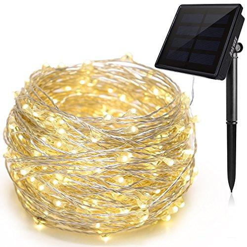 Ankway led Lichterkette solar lichterketten (200led 3-Strang Kupferdraht 72ft 8 Modi), IP65 wasserdichte solarbetrieben Lichterkette, 21M solarleuchten für Garten außen/innen Weihnachten (warmweiß)