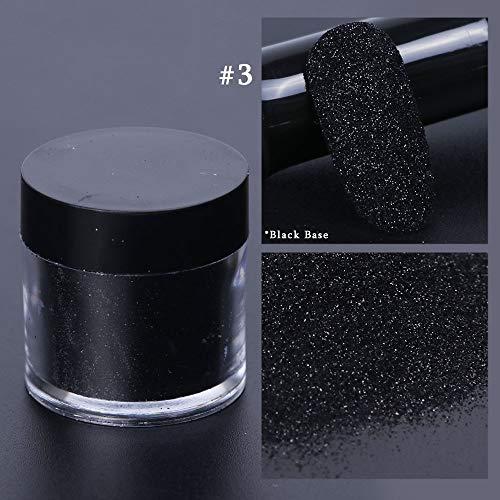 Polvo holográfico Nail Glitter Pigmento de cromo Polvo de azúcar Negro Blanco Sirena Brillante Esmalte de uñas Decoraciones artísticas Manicura SAMN 3