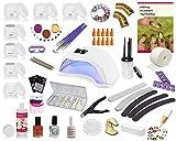 UV Gel Starterset Set, Nagelstudio Set, Anfängerset, Maniküre, Pediküre, UV Farbgele, UV Systemgele, Nailart, French Selbstglättung der Modellage per Honigeffekt