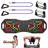 KIKILIVE 9 en 1 Push Up Rack Board,Ejercicio Multifunción Entrenamiento Muscular, Plegable Push Up Tabla Board Fitness Entrenamiento Gimnasio Ejercicio Stands para el Aptitud