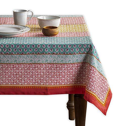 Maison d' Hermine Provence 100% Baumwolle Tischdecke für Küche | Abendessen | Tischplatte | Dekoration Parteien | Hochzeiten | Frühling/Sommer (Rechteck, 160 cm x 220 cm)