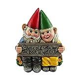 kaikki Gartenzwerg Zwerg Paar, Garten Gnom Statue Sitzen Gnom Paar Harz Garten Skulptur Handwerk Für Hof Rasen Home Decoration Geschenk