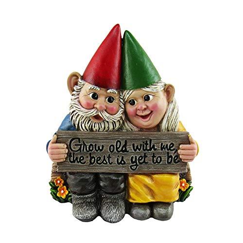 Gartenzwerg, Deko Zwerg aus Harz, Dekoration für die Terasse und Balkon, Weihnachten Dekoration, Statue Ornament Geschenk
