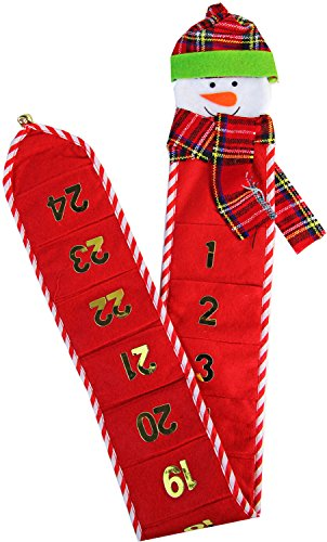Wunderschöner Adventskalender in rot Kalender Deko Weihnachtskalender Weihnachten