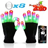 Led Flashing Finger Lights Gloves 3 Colors 6 Modes for Autistic top Toy Gifts Idea Best Cool Funny Present Halloween Christmas Party Favor