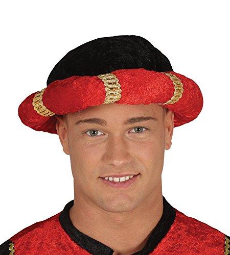 Turbante negro y rojo mago rey de disfraz maharajá indio: Amazon ...