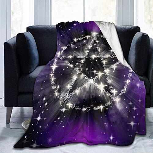 Moily Fayshow Yule Wicca Wiccan Star Galaxy Fleece Throw Blanket Franela Edredón Dormitorio Ropa de Cama Decoración 50 'X40'