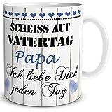 TRIOSK Tasse Papa mit Spruch lustig Scheiß auf Vatertag Papa Ich Liebe Dich Geschenk für besten...