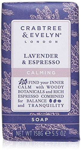 Crabtree & Evelyn Lavender & Espresso Soap de 3Compartimento gemahlene Jabón 158g