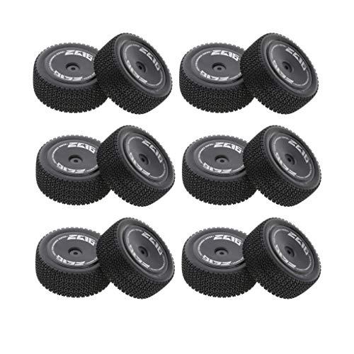 Amuzocity Piezas de Repuesto de Neumáticos de Rueda Trasera de Plástico de 12 Piezas para WLTOYS 144001