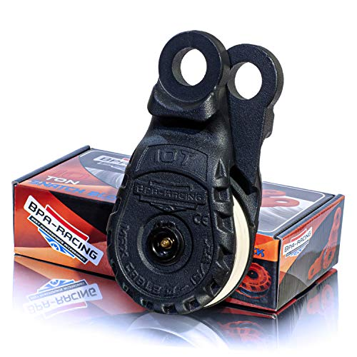 """BPA-RACING 10-Ton Snatch Block   Pulley Block With Easy Grip Handle   Works With 3/4 D-Rings & Synthetic Rope up to 15/32""""   Heavy Duty Winch Accessories   Offroad Recovery Emergency Kit"""
