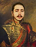 Post Malone Poster - Funny Celebrity Art - Faux Oil Painting Print - Novelty Pop Culture Artwork Gift