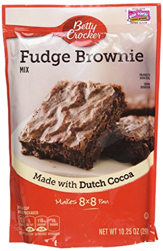Betty Crocker Fudge Brownie Mix, 10.25-ounce Pouches (Pack of 3)