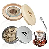 Cocktail Smoker, Old Fashioned Smoked Cocktail Kit with Wood Chips, Smoke Infuser for Cocktails, Wine, Whiskey, Cheese, Meat, Coffee, Salt, Smoking Glass Cloche Accessories