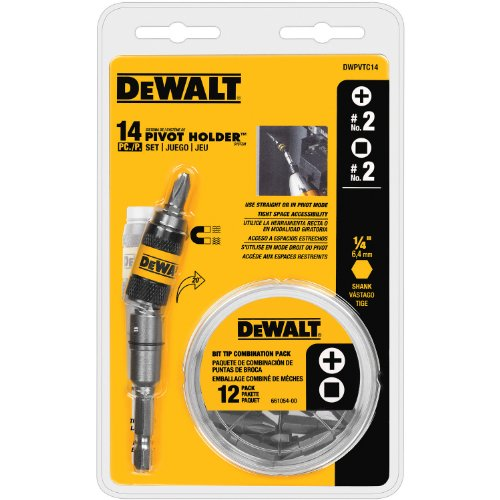 DEWALT Pivot Bit Holder Set, 14-Piece (DWPVTC14)