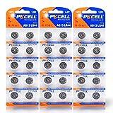 PKCELL LR44 A76 357 G13 Alkaline Watch Battery,30 pc