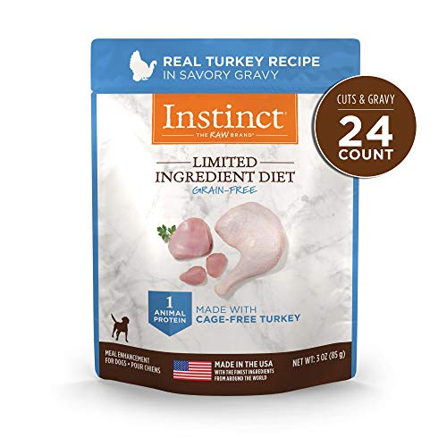 Instinct Limited Ingredient Diet Grain Free Real Turkey Recipe Natural Wet Dog Food Topper by Nature's Variety, 3 oz. Pouches (Case of 24)