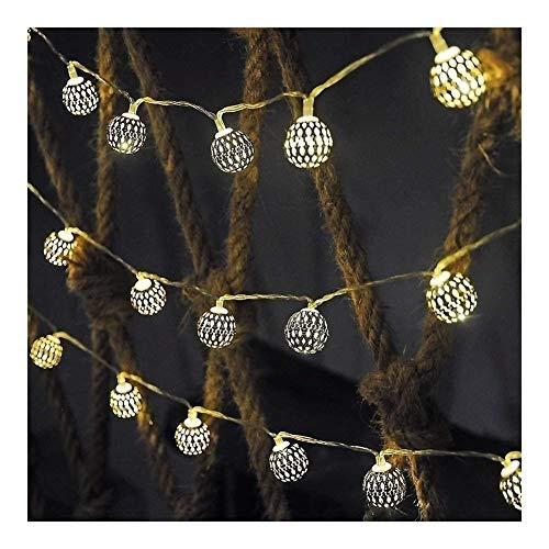 ZBM--ZBM Metal Light String Holiday Lights, Lights Fairy Decorative Globe Lamp Strings Battery Powered LED Fairy Lights Geometry Rose Gold, For The Bedroom fairy lights