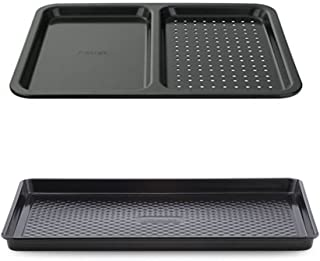 Prestige Inspire Non-Stick large Oven Tray 2 Piece Set | Large Tray and Split Tray