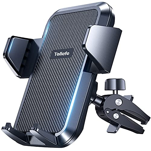 """Car Vent Phone Holder,TOLLEFE Air Vent Phone Mount,Upgrade Air Vent Strong Adjustable Clip,Compatible 4.0""""-6.8"""" Smart Phone"""
