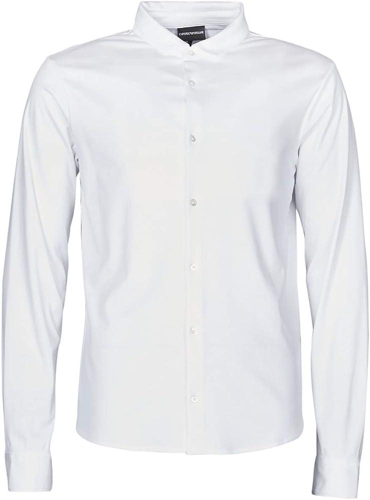 Armani,camicia per uomo a maniche lunghe,100 % cotone, slim fit 8N1CH6 1JPRZ