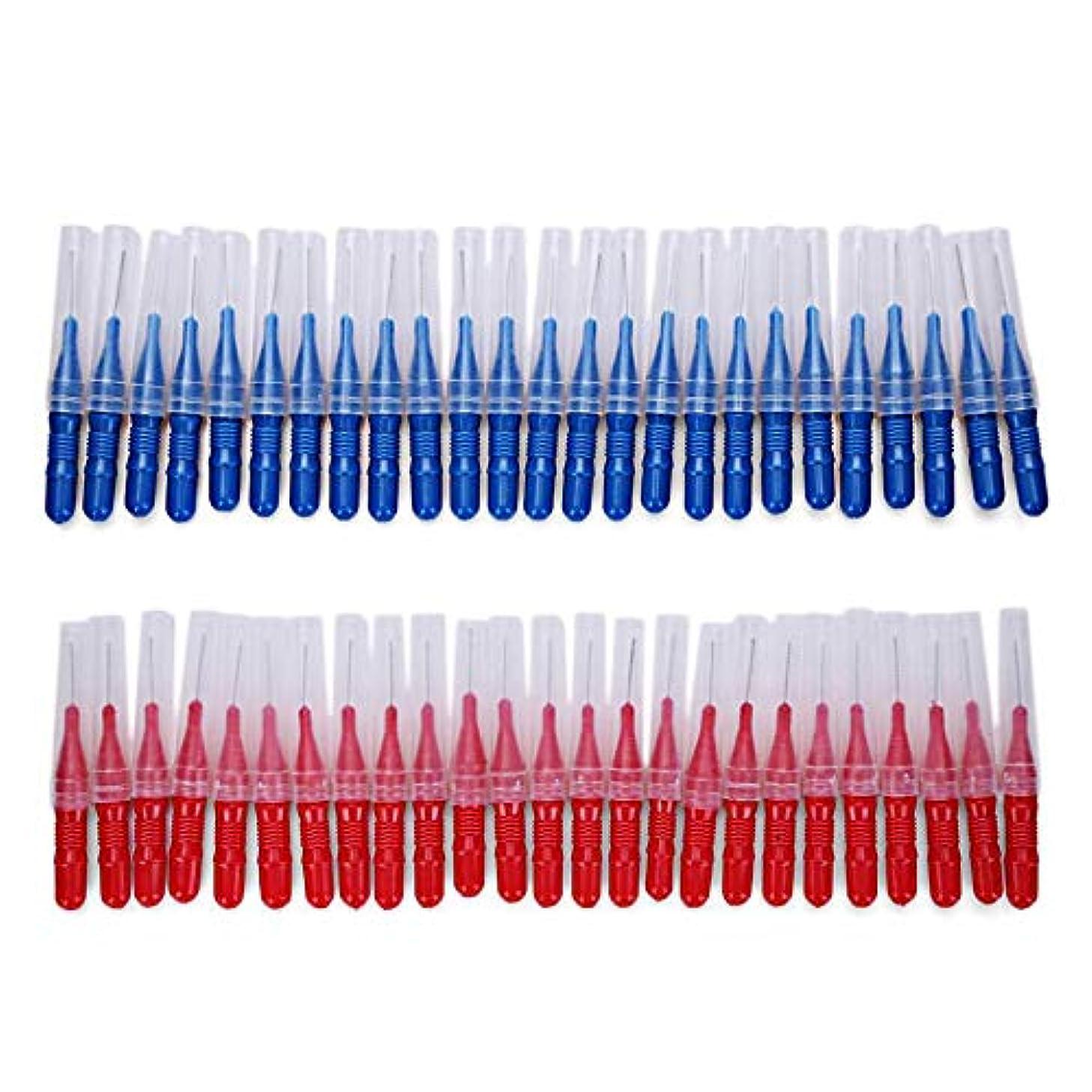 分泌する才能ラップトップAAcreatspace 2.5 MM 50ピース/セット歯磨き歯歯間歯ブラシクリーニングツール歯のケア歯間ブラシ