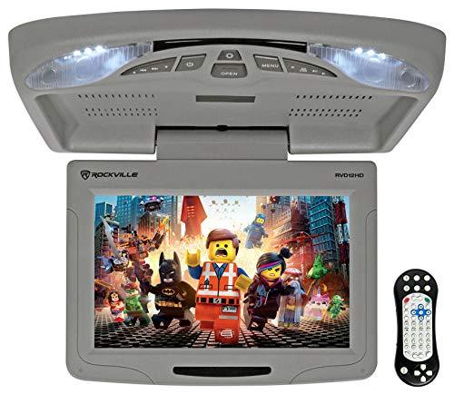 Rockville RVD12HD-GR 12' Grey Flip Down Car Monitor DVD/USB/SD Player...
