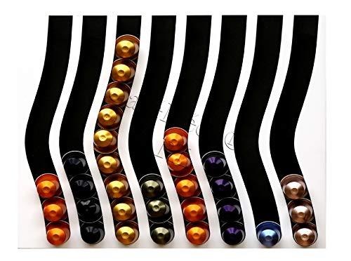 Kaffee-Kapselhalter Kapselspender nur für Nespresso-Kapseln (schwarz auf weiß)