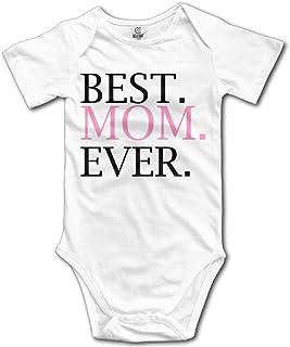 Unisex Baby's Best Mom Ever Bodysuits Romper Short Sleeved Onesies