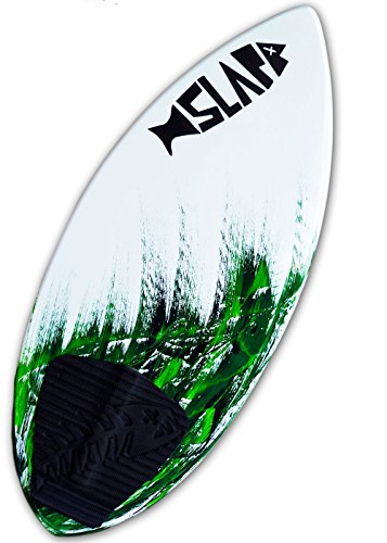"Slapfish Skimboards - Fiberglass & Carbon with Traction Deck Grip - Kids & Adults - 2 Sizes - Green (41"" Board & Arch Bar)"