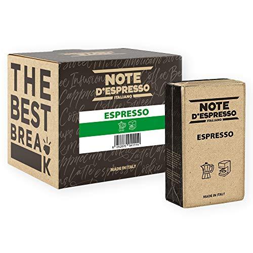 Note D Espresso - Espresso - Caffè Macinato Sottovuoto - Confezione da 4 X 250g