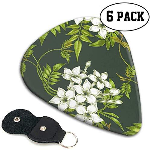 Weiß Elegant Spring Romantic Jasmine Pick Gitarren Pick Up Kit 6er Pack