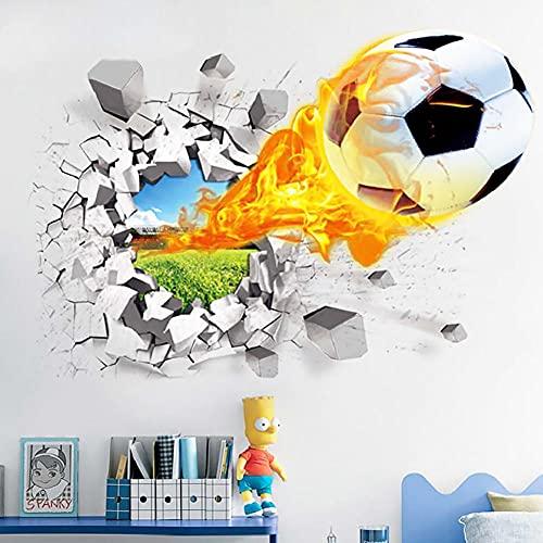 Pegatina De Pared De Fútbol 3D, Calcomanía Creativa De Pared Para Sala De Estar, Sala De Niños, Balón De Fútbol Extraíble, Papel De Pared, Decoración Colorida Para El Hogar, Para Niños De Dormitorio