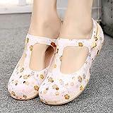 XLLJA Zapatillas para Unisex Adultos Antideslizantes Zapatillas de baño,Sandalias de Mujer Zapatos de Verano Antideslizantes Zapatos de Playa Plana Zapatillas-Gold_EU35