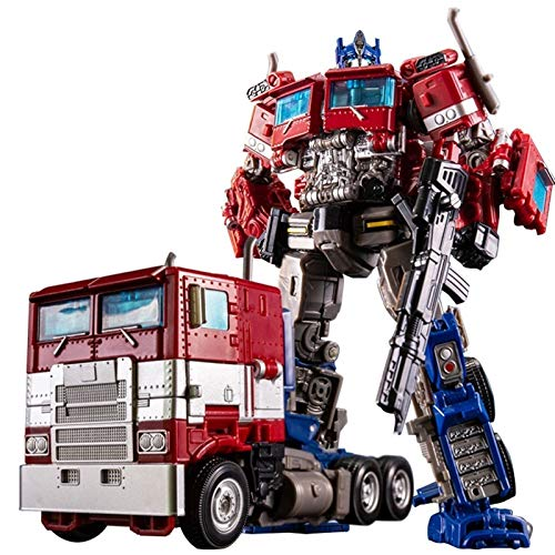 Transformers Rescue Bots Academy Optimus Prime Converting Toy, Dark Commander Optimus Prime para niños Transformando los juguetes de los coches de robot para los niños pequeños Regalos de cumpleaños p