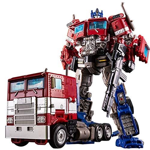 Transformers Rescue Bots Academy Optimus Prime Converting Toy, Dark Commander Optimus Prime para niños Transformando los juguetes de los coches de robot para los niños pequeños Regalos de cumpleaños p