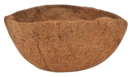 Esschert Design Ersatzeinlage Hanging Basket Ø 36 cm, Höhe 14 cm, Kokoseinlage, Hängekörbchen, Naturkorb