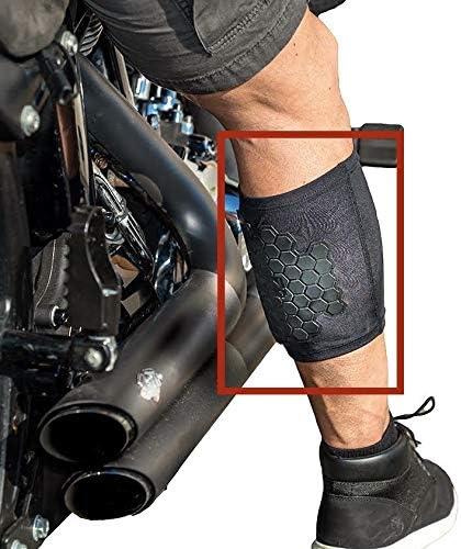 BurnJacket motorcycle exhaust pipe burn protective sleeve leg guard
