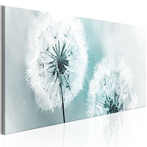 murando - Bilder Pusteblume 135x45 cm Vlies Leinwandbild 1 TLG Kunstdruck modern Wandbilder XXL Wanddekoration Design Wand Bild - Blumen Natur grau blau Pusteblumen b-B-0223-b-d