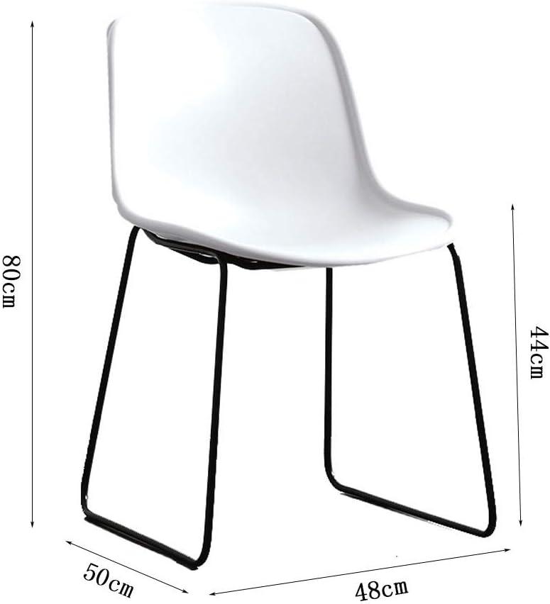 Chaise de salle à manger SLL- Chaise Dossier Chaise Chaise Ordinateur de Bureau Chaise de Bureau décontractée Moderne (Color : Red) Red