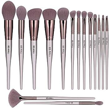 BS-MALL Makeup Brush Set 15pcs Makeup Brushes Premium Synthetic Bristles Powder Foundation Blush Contour Concealers Lip Eyeshadow Brushes Kit