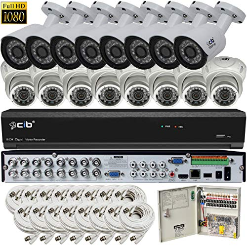 Find Discount CIB Hybrid HD-TV/AHD/IP/960H 16CH 1920TVL 1080P,Plus 8CH 4MP IP Input, DVR Security Sy...