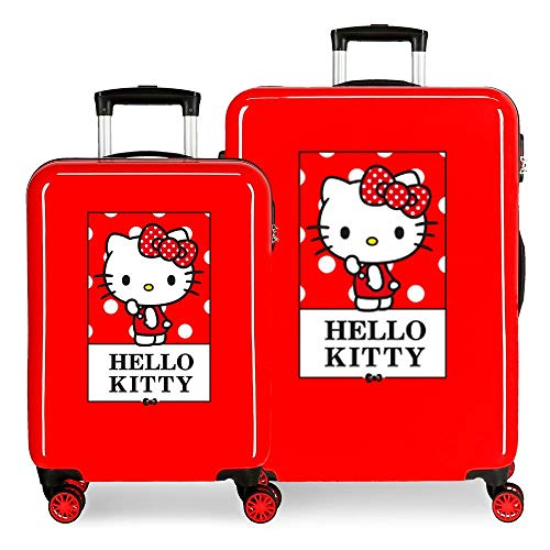 Set De Maletas Rígidas Bow of Hello Kitty