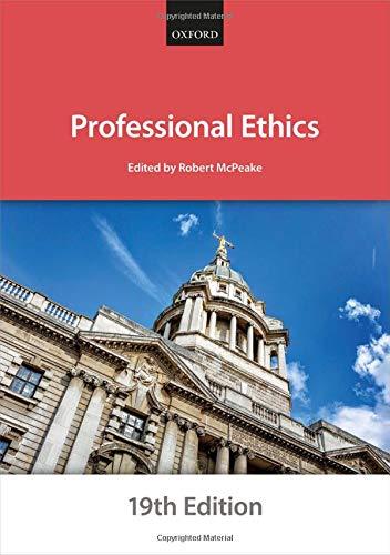 Professional Ethics (Bar Manuals)