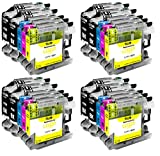Supply Guy 20 Cartuchos de Impresora compatibles con Brother LC-123 para Brother DCP-J132w DCP-J150 DCP-J152w DCP-J152wr DCP-J172w DCP-J4110dw DCP-J4110w