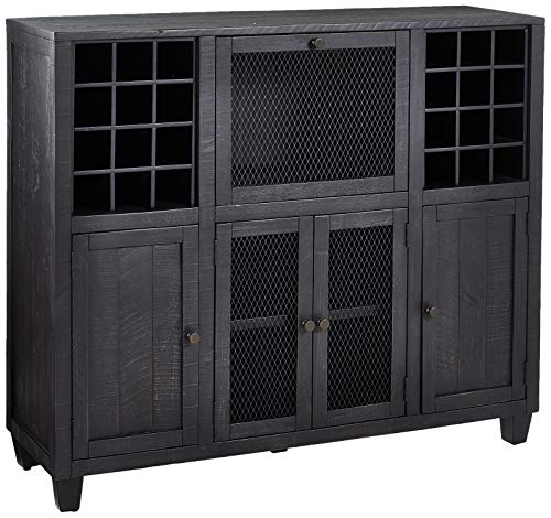 Martin Furniture IMCP300 Wine Cabinet, Brown