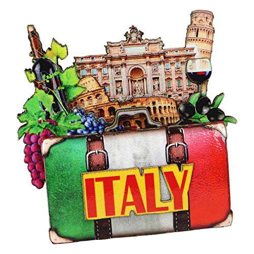 City-Souvenirs Italy Christmas Ornament 4 Inch Double Sided 3D Italian Christmas Ornament